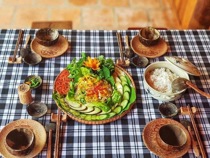 Ẩm thực tại Nhà Dừa CocoHome Vĩnh Long