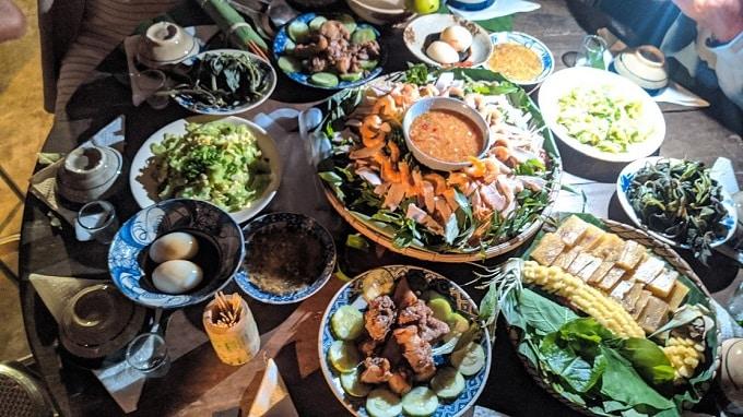 Ẩm thực Ba Phi tại Cồn Hô