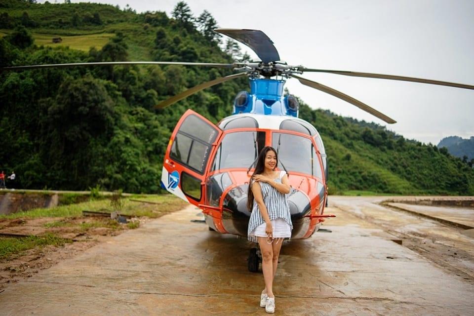 Độc đáo Tour ngắm cảnh từ trực thăng ở Mù Cang Chải (Ảnh Vân Anh)