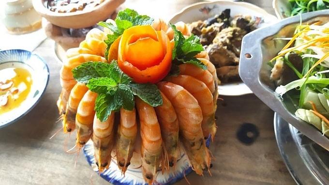 Ẩm thực Cồn Chim với các món ăn được chế biến từ sản vật địa phương