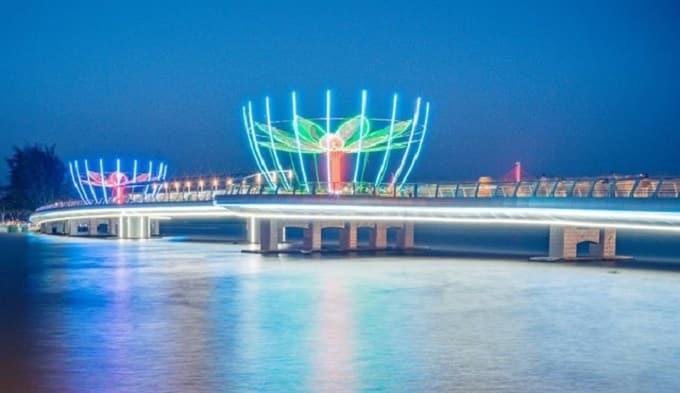 Cầu Tình Yêu - Cầu Đi Bộ Cần Thơ về đêm