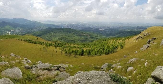 Khung cảnh mùa thu tuyệt đẹp trên đỉnh Bình Hương