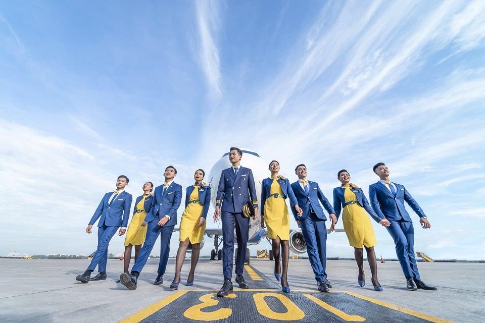 Ký hiệu hãng bay và nhận diện trang phục của Vietravel Airlines