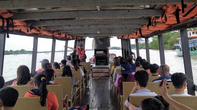 Du thuyền trên sông Tiền ngắm cảnh 4 cồn Long - Lân - Quy - Phụng