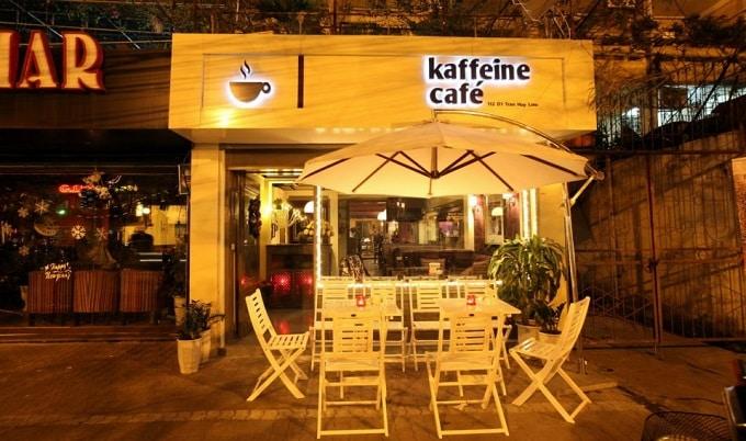 Khu vực cà phê đường Thống Nhất