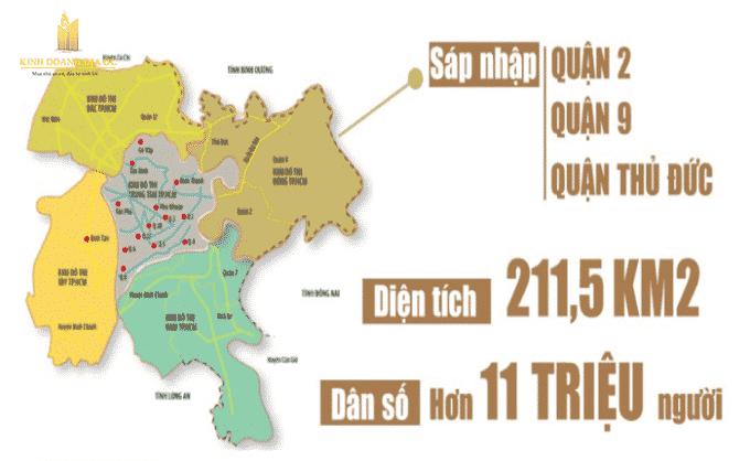 Nghị quyết thành lập TP Thủ Đức thuộc TP.HCM với tỷ lệ tán thành là 100% dựa trên cơ sở nhập toàn bộ diện tích tự nhiên và dân số của 3 quận gồm Quận 2, Quận 9 và Quận Thủ Đức