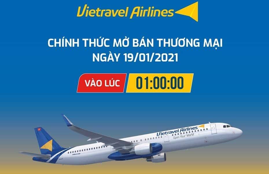 Vietravel Airlines chính thức công bố bay thương mại với 50.000 vé 0 đồng