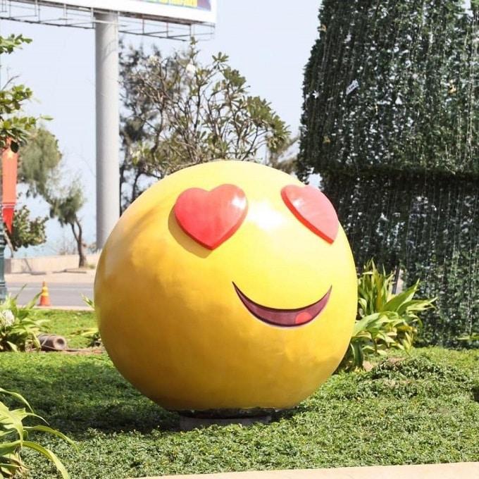 Icon trái tim đáng yêu tại công viên Vũng Tàu