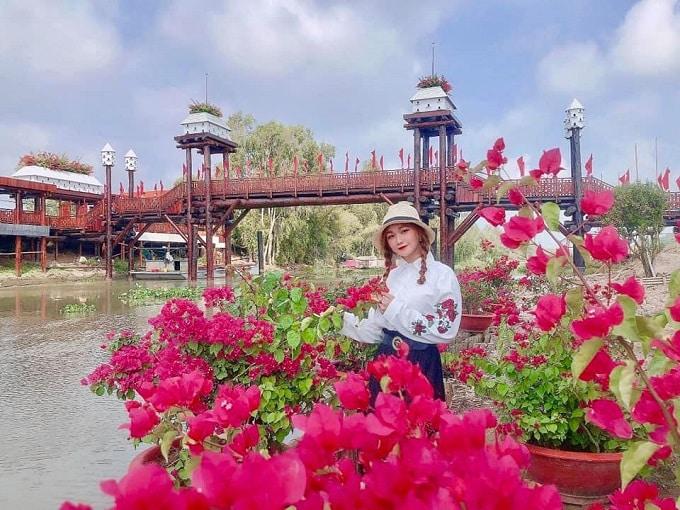 Sắc xuân ngập tràn tại khu du lịch sinh thái Rừng Tràm Trà Sư - An Giang