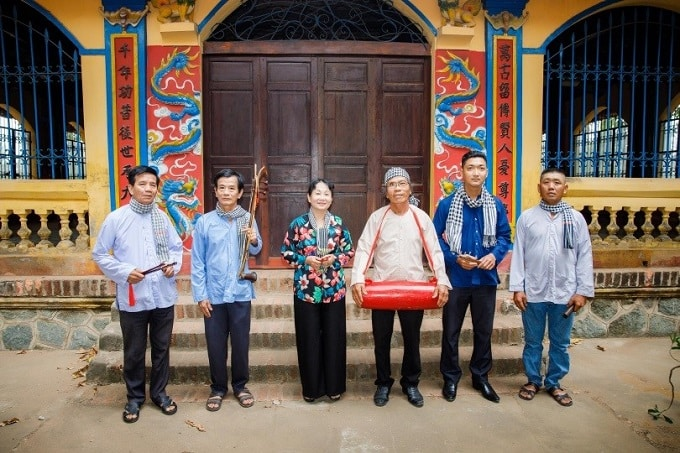 Đội hát sắc bùa xã Phong Nẫm, huyện Giồng Trôm. (Ảnh: Tư liệu)