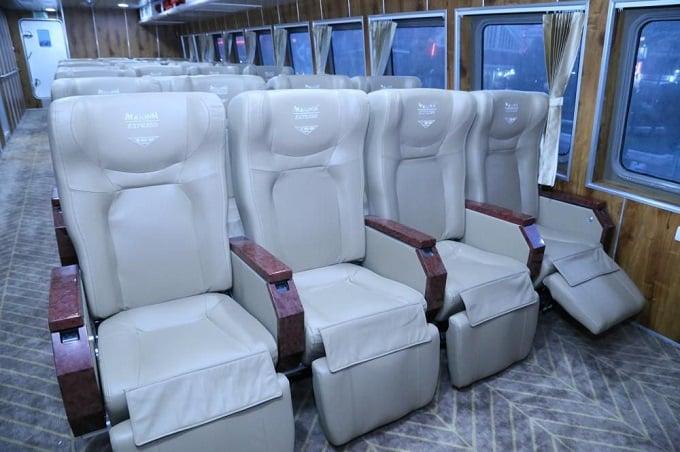 Ghế hạng Thương gia trên Tàu cao tốc Mai Linh Express
