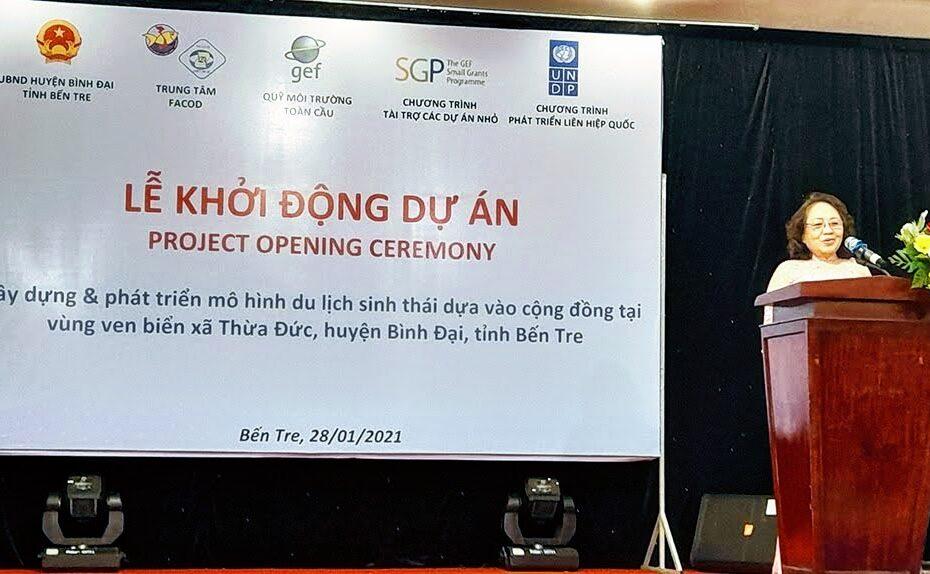 Lễ Khởi Động Dự án Du lịch Sinh thái Biển dựa vào Cộng Đồng đầu tiên tại Bến Tre