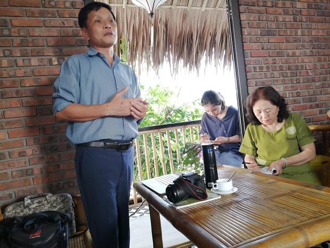 TS. Chu Mạnh Trinh - Phó trưởng phòng Truyền thông khu Bảo tồn Biển Cù lao Chàm