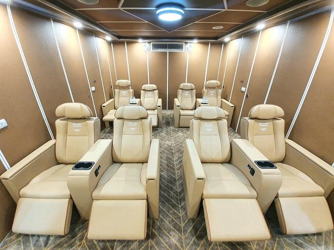 Tàu cao tốc Mai Linh Express còn được trang bị 8 ghế hạng Nguyên Thủ