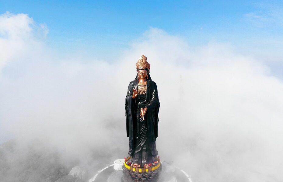 Tây Bổ Đà Sơn - Tượng Phật Bà bằng đồng cao nhất châu Á