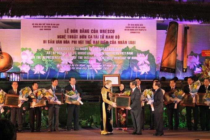 Đờn ca tài tử đã được UNESCO công nhận là Di sản văn hóa phi vật thể của thế giới