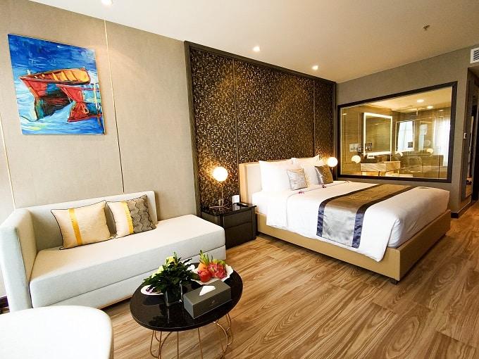 Phòng nghỉ tại Diamond Stars Hotel Bến Tre