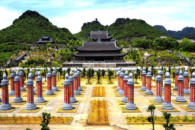 Khu vườn kinh tại Chùa Tam Chúc Hà Nam