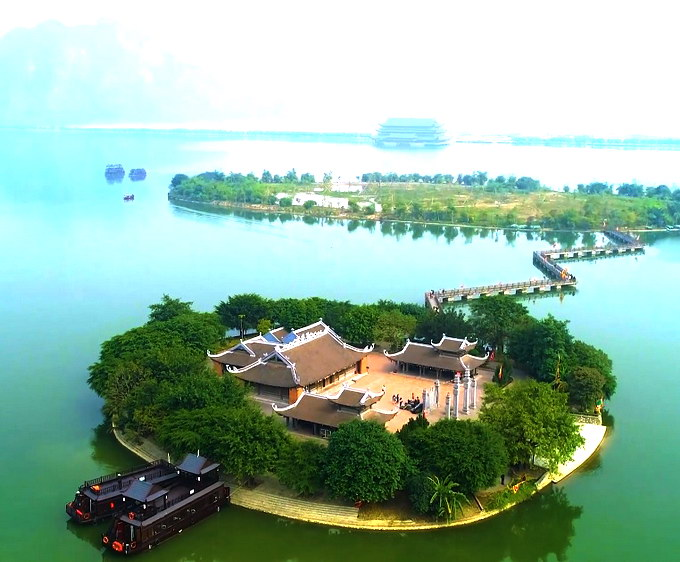 Toàn cảnh Đình Tam Chúc - nơi thờ Hoàng hậu Dương Thị Nguyệt