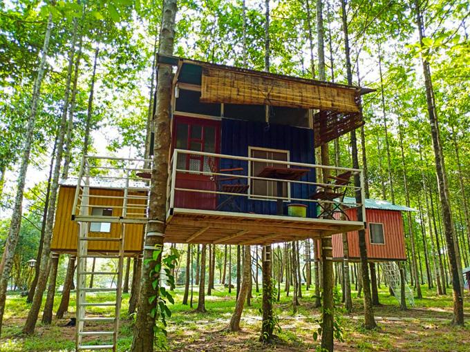 Nhà trên cây độc đáo tại KDL Sinh thái Thác Giang Điền